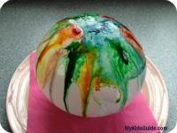 Ice Ball Painting Preschool craft