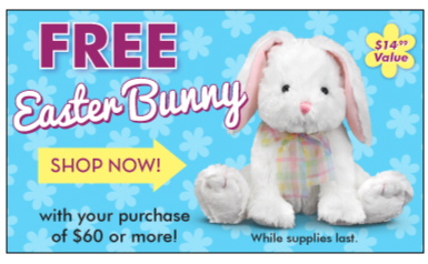 Free Easter Bunny from Melissa & Doug Easter Shop