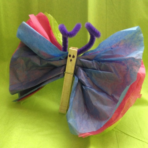 Easy Easter Crafts For Kids Diy Tissue Paper Butterflies