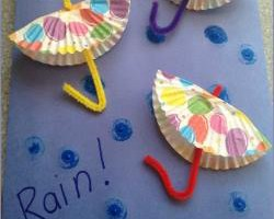 Craft for Kids: DIY Paper Umbrellas