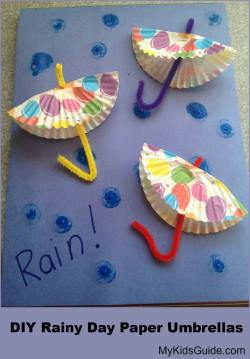 DIY Paper Umbrellas