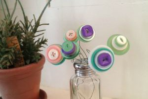 Mothers Day Button Bouquet Craft