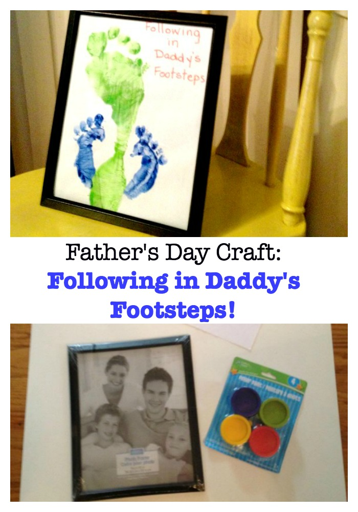 This super easy Father's Day craft for kids features your child's foot prints alongside Daddy's, creating a meaningful gift that he will always cherish.