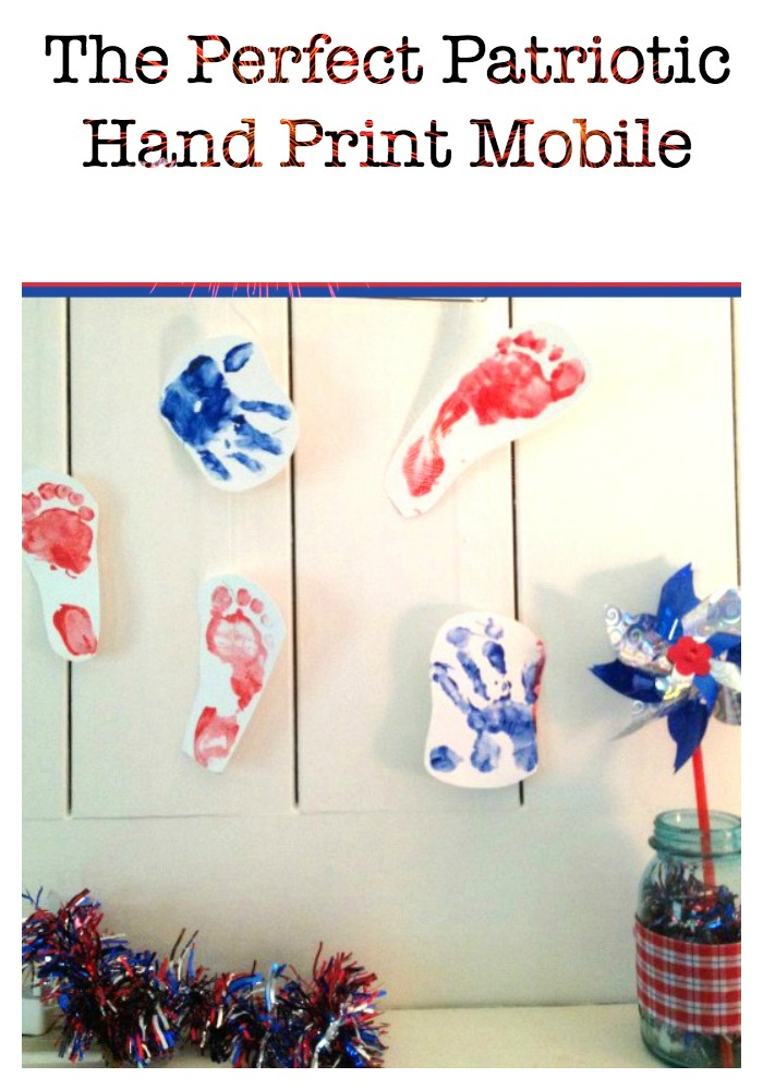 Easy 4th of July Craft for Kids The Perfect Patriotic Hand Print Mobile