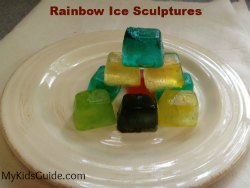 Rainbow Ice Sculptures for Kids