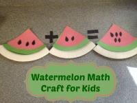 Watermelon Math Craft for Kids