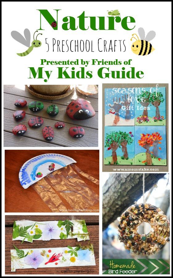 5 Awesome Nature Preschool Crafts for Kids | MyKidsGuide.com