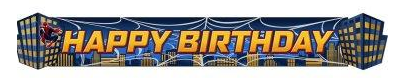 Birthday Banner Spiderman Party Supplies for Kids