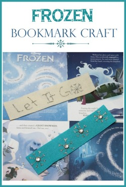 Frozen Bookmark Craft