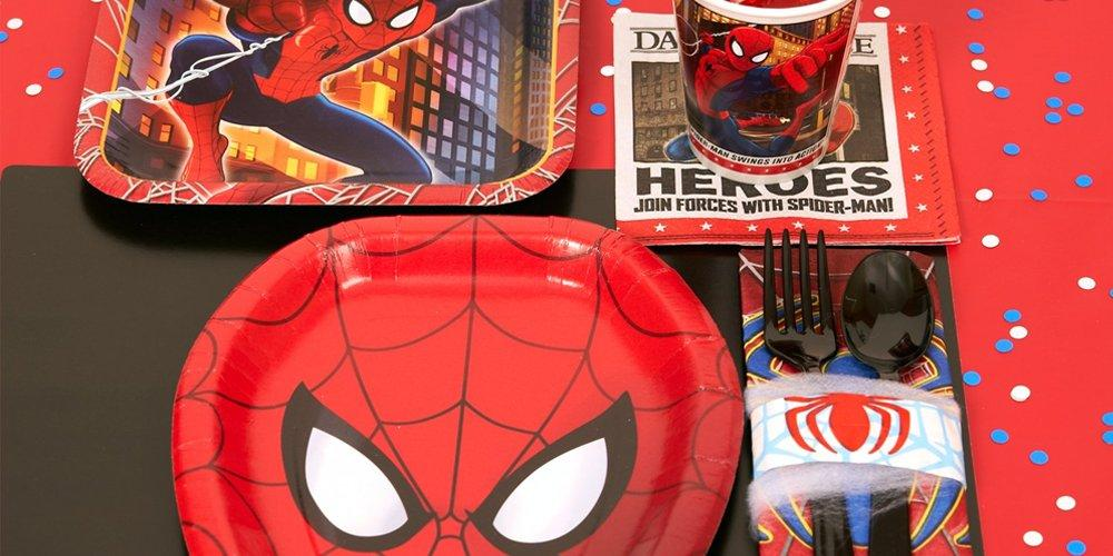 Birthday Express Party in a Box Spiderman Party Supplies for Kids