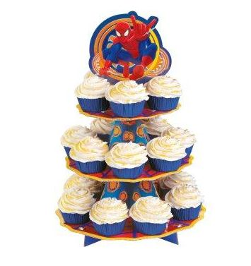 cupcake tower SpiderMan Party Supplies