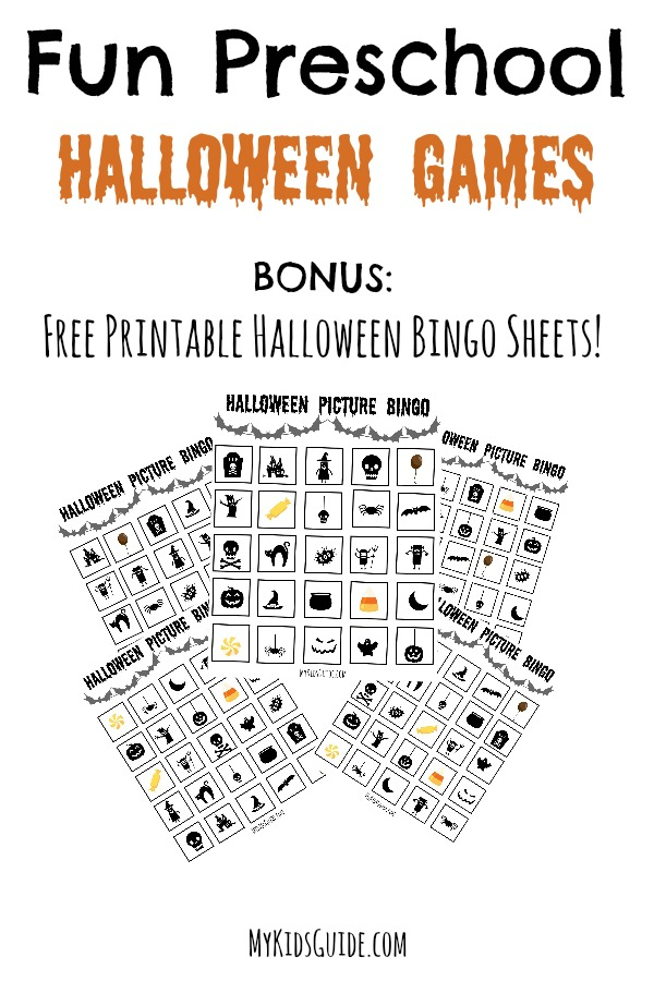 Fun Preschool Halloween Games with Free Printable Halloween Bingo Sheets | MyKidsGuide.com