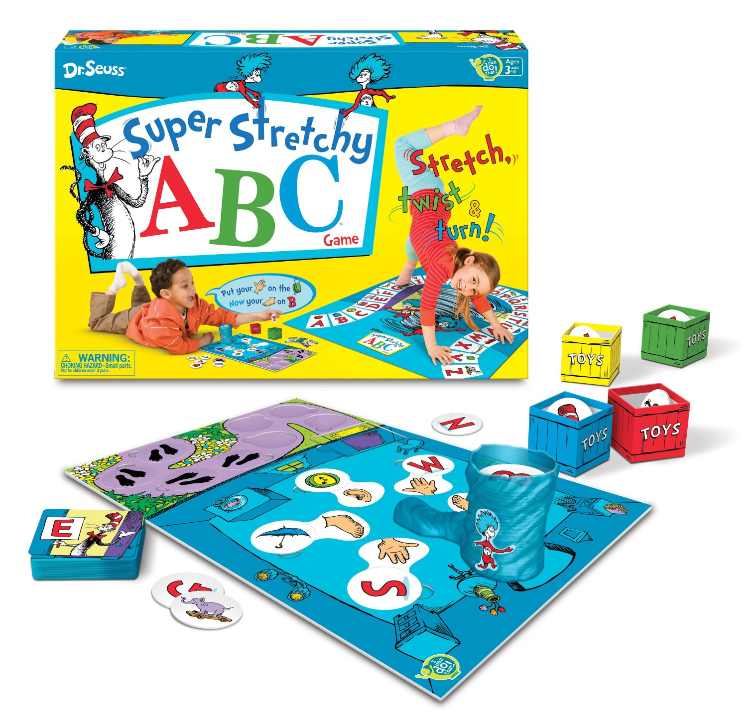 Super Stretchy ABC Game Dr. Seuss Board Party Games for Kids