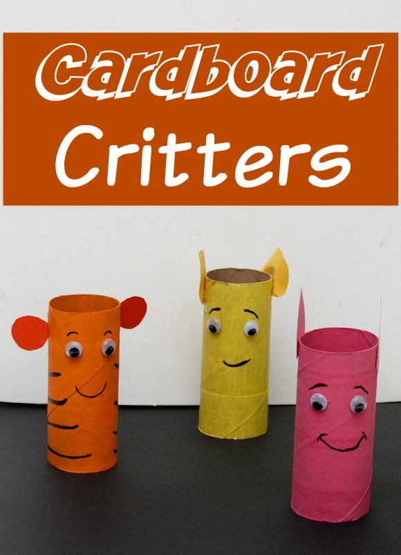 Craft a Jungle with Our Cardboard Critters craft for kids, perfect for a Jungle Book movie night!