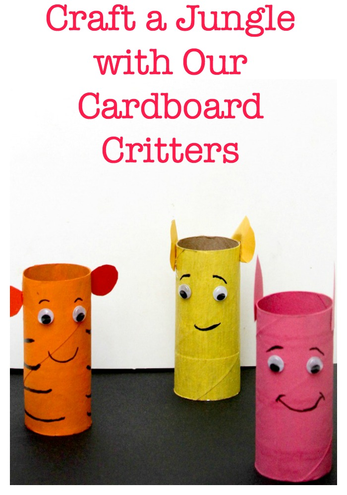 Ready for a super cute craft for kids? Our cardboard critters are so easy to make, you can craft an entire jungle in a single afternoon