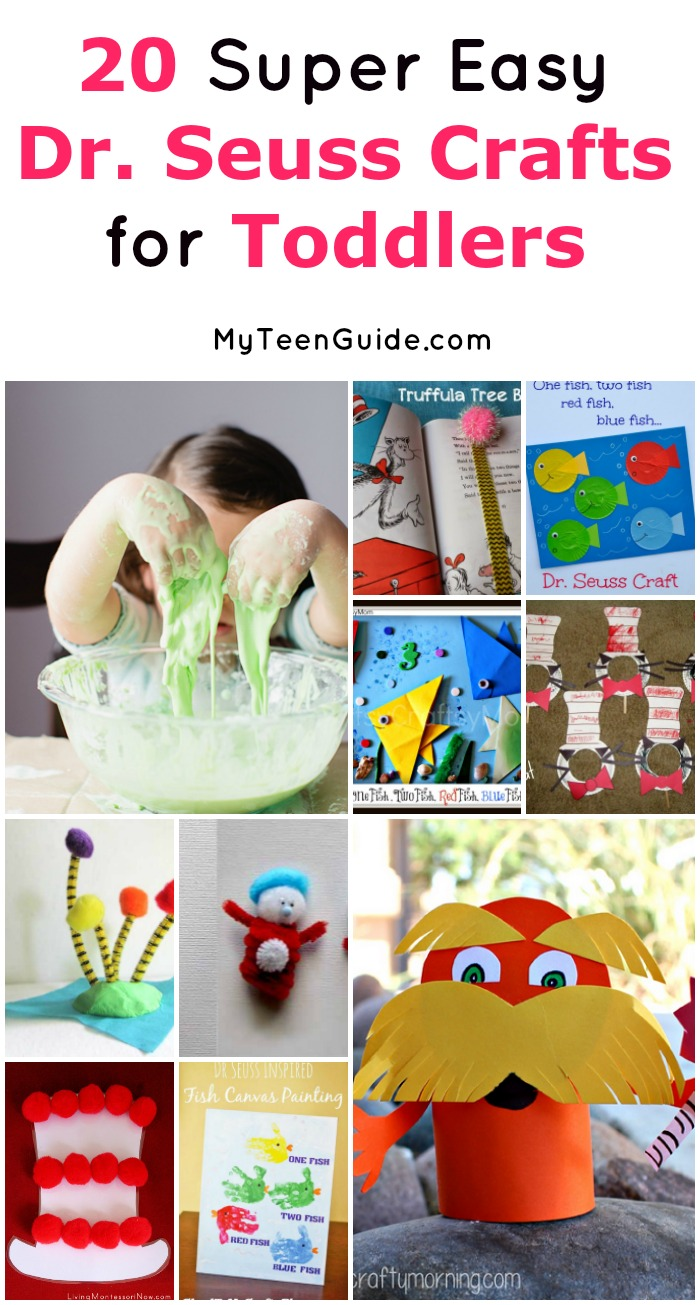 Check out these 20 super cute and incredibly easy Dr. Seuss crafts for toddlers! Perfect way to introduce Seuss to little ones!