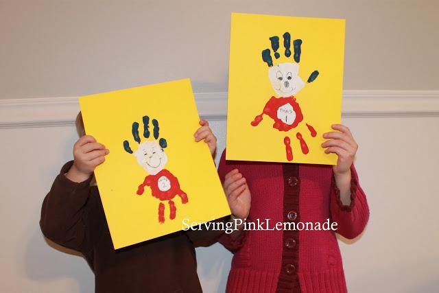 Dr Seuss Handprints