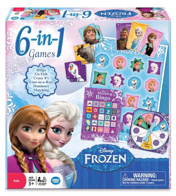 Frozen 6 in 1 Game Board: Disney's FROZEN Board Games for Kids