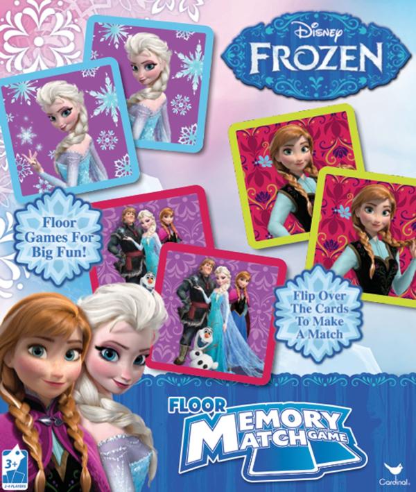 Frozen Floor Memory Match Game: Disney's FROZEN Board Games for Kids