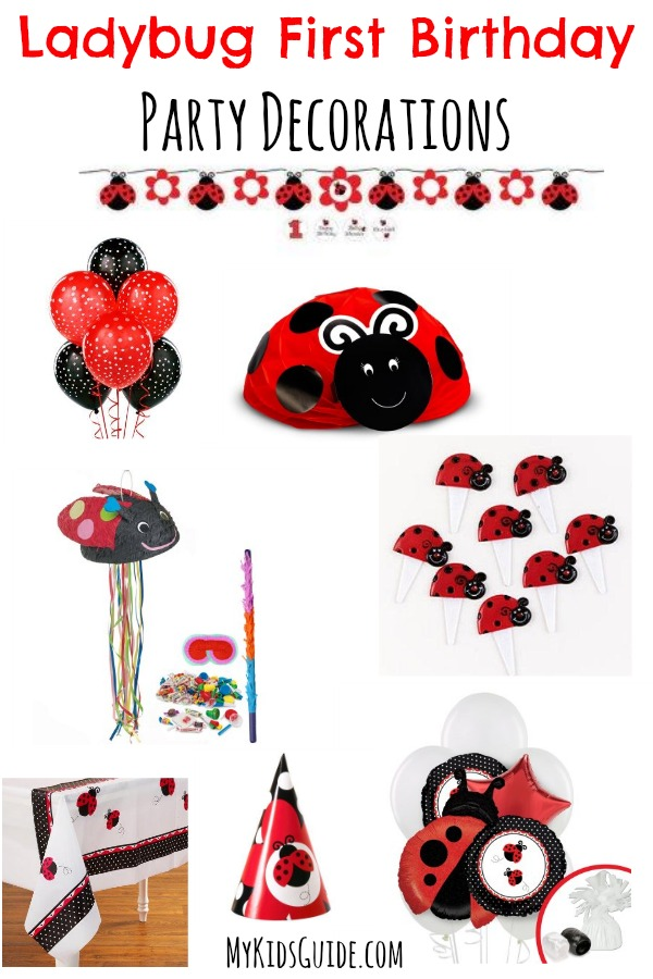 Ladybug First Birthday Party Decorations