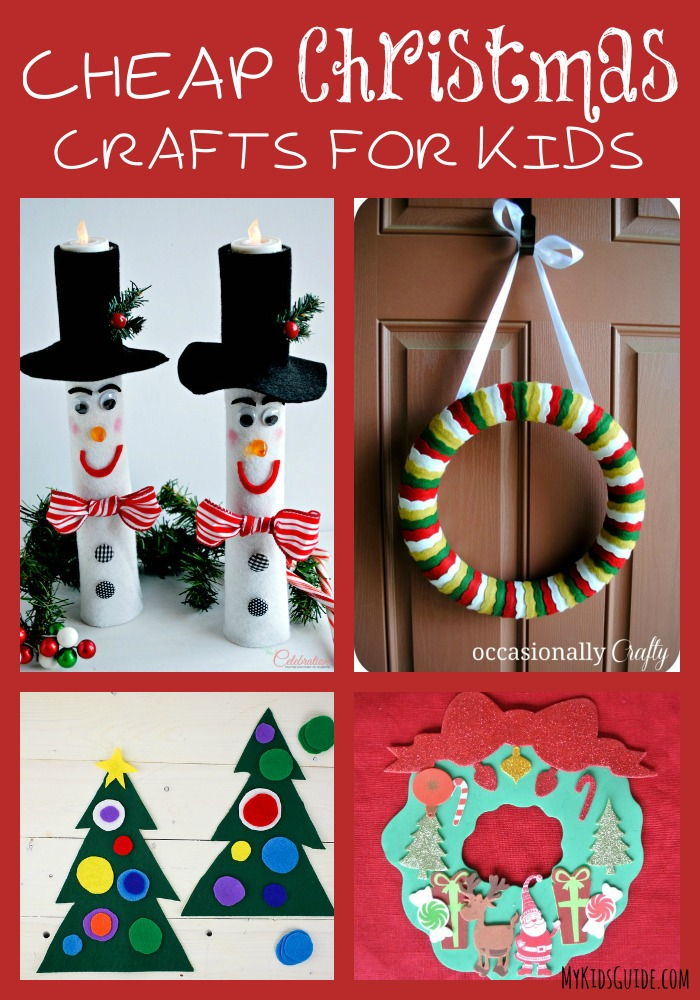 Super Cute Yet Cheap Christmas Crafts For Kids