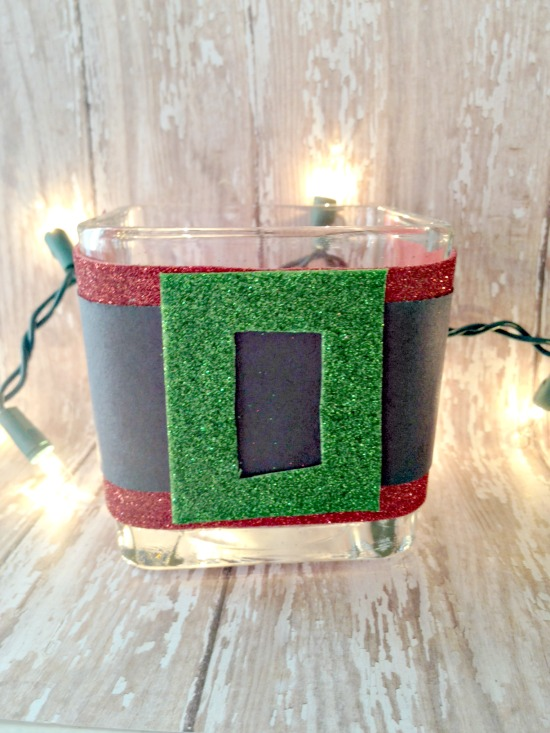 Christmas Craft for Kids: Simple Santa Candle Holder