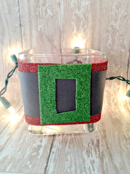 Easy Christmas Craft for Kids: Santa Candle Holder