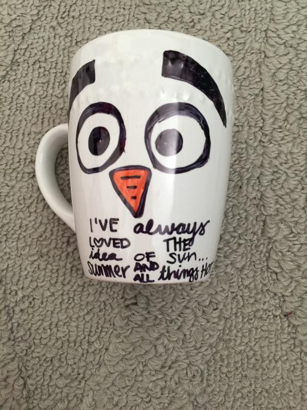 Olaf Mug Disney Frozen Craft Makes a Perfect Handmade Gift Too!