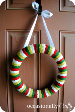 FeltChristmasWreath Cheap Christmas Crafts For Kids