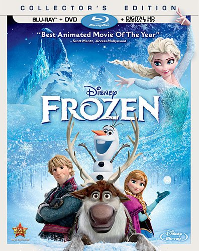 Frozen BluRay DVD Disney's FROZEN Toys For 1 Year Olds