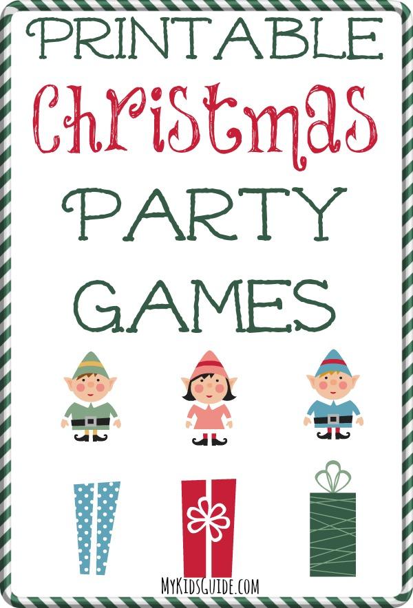 Fun Free Printable Christmas Party Games for Kids