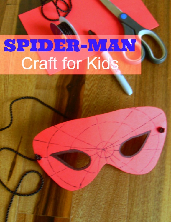 Spiderman craft for toddlers