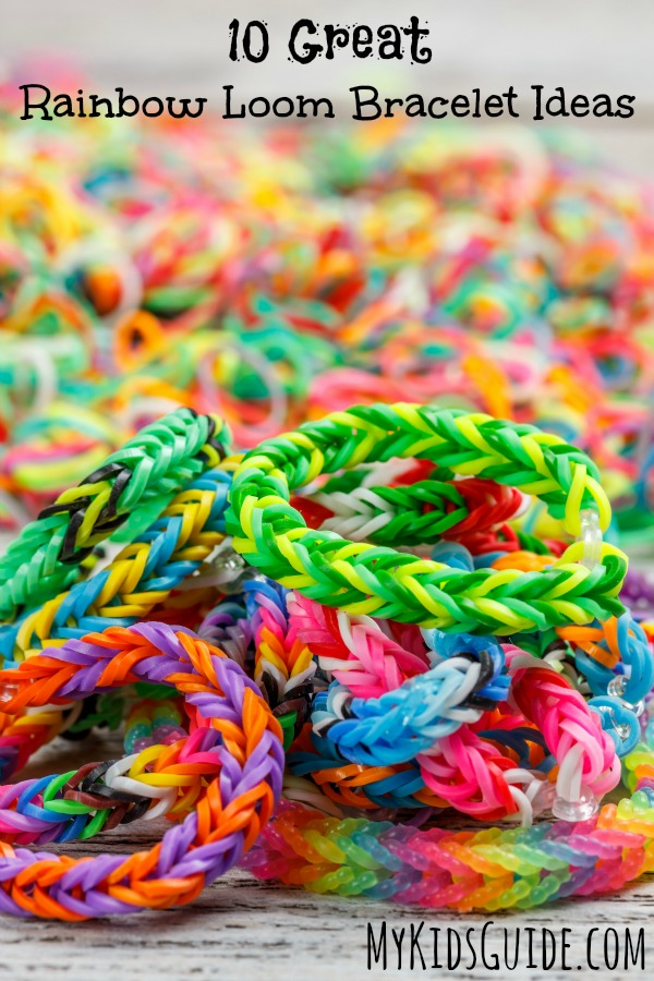 Check out our favorite 10 great Rainbow Loom bracelet ideas to inspire creativity in your kids! Let little ones become entrepreneurs with their wares!