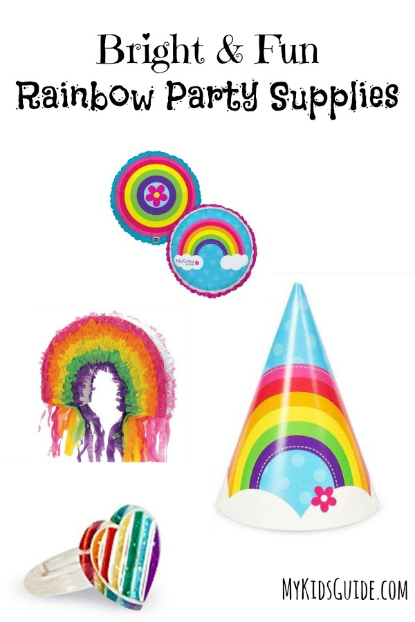 Throw a great fun filled event with these Bright & Fun Rainbow Party Supplies! Perfect for colorful Rainbow Loom parties, 1st birthdays and more!