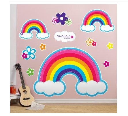 Rainbow Wall Decals Rainbow Party Supplies