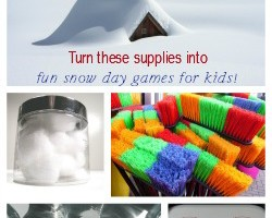 "Too cold to let kids go outside and play? Check out these fun indoor boredom buster snow day games for kids! Even you'll be doing the ""let it snow"" dance!"