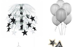 Take your party from kid's time to grownup time with these New Years Eve party supplies that work perfectly for both parties! Classy yet cute!