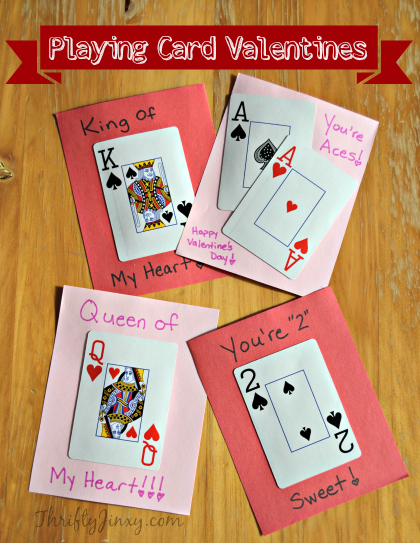 DIY-Playing-Card-Valentines Valentine's Day crafts for preschoolers
