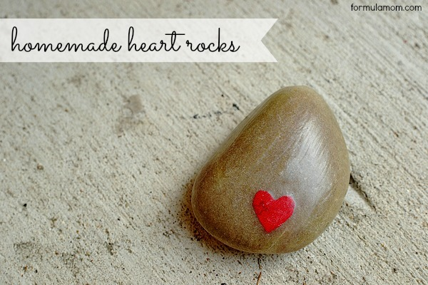 Valentine's Day Crafts for Toddlers heart Rocks