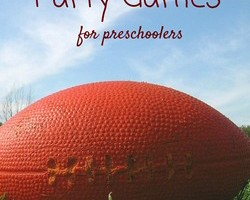 Keep the little ones busy while you enjoy the big game with these fun Super Bowl party games for preschoolers! Easy DIY party planning games for kids!