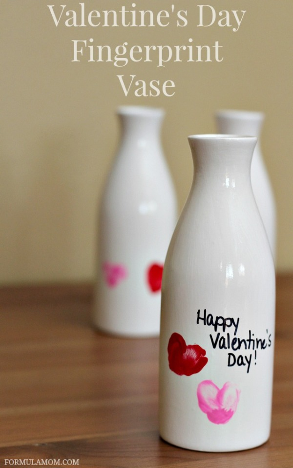 Valentine-Crafts-for-Preschoolers-Fingerprint-Bud-Vase Valentine's Day crafts for preschoolers