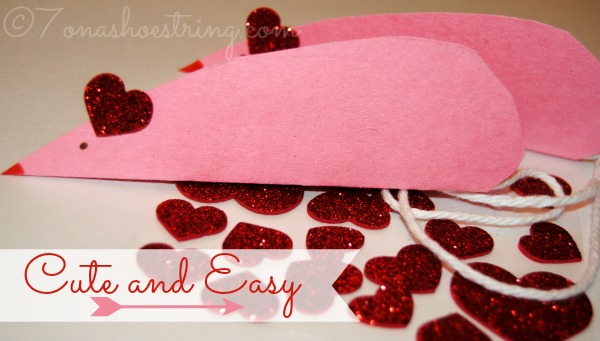 Valentne's Day crafts for toddlers mouse card