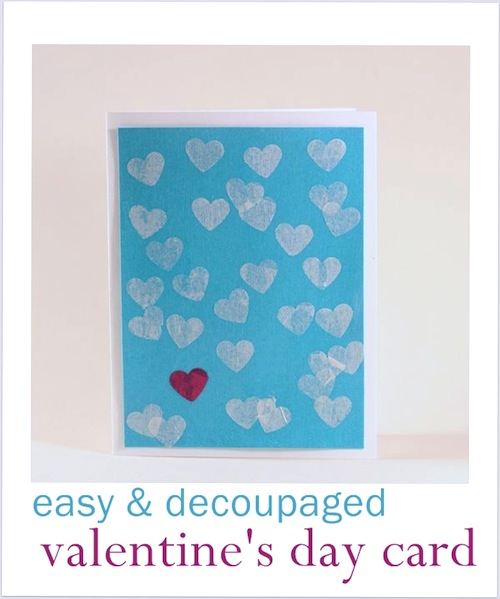 Valentine's Day Crafts for Toddlers: Decoupaged Valentine's Day Card