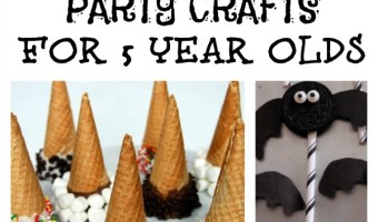 These indoor party crafts for 5 year olds are just what you need to keep kids busy in between all the great games you have planned for your next big bash!