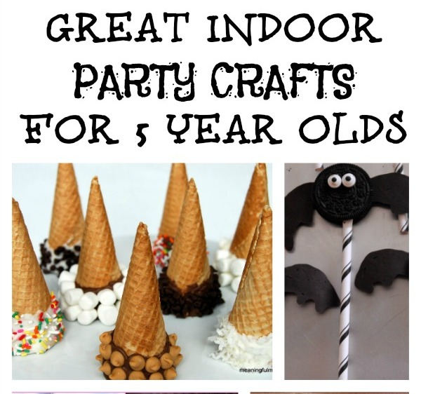 Great Indoor Party Crafts For 5 Year Olds