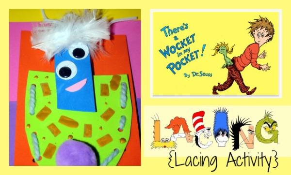 Whimsical Dr Seuss Activities for Kids Lacing Activity