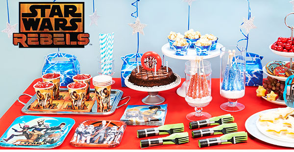 Looking for ideas to help you host the ultimate Star Wars Rebels party? Check out our favorite party supplies plus some great ideas on how to use them!