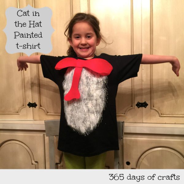 Whimsical Dr Seuss Activities for Kids Cat in the Hat Painted Shirt