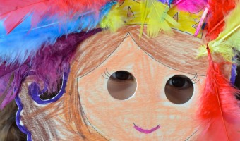 Fun with Feathers: Bright Doll Puppet Craft for Kids