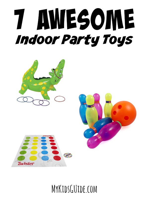 Looking for awesome indoor party toys for 5 year olds? These ideas will help keep kids happy during your party, even if they can't go outside to play!
